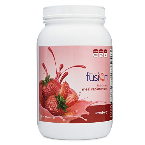 Bariatric Fusion Meal Replacement Protein 21 Serving Tub Strawberry for Bariatric Surgery Patients Including Gastric Bypass & Sleeve Gastrectomy
