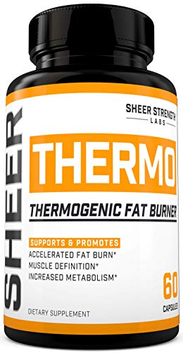 THERMO Fat Burner (60ct) - Thermogenic Weight Loss Supplement for Women & Men - Yohimbine, Green Tea Extract, More - Non-GMO Diet Pills - Sheer Strength Labs - Packaging May Vary