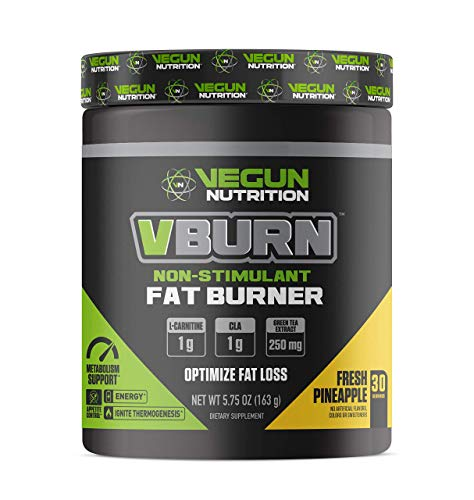 Vegun Nutrition - VBURN - Fat Burner - Natural Thermogenic Diet and Weight Loss Supplement, Metabolism and Energy Booster - Appetite Suppressant - L-Carnitine, Green Tea Extract, Garcinia and CLA