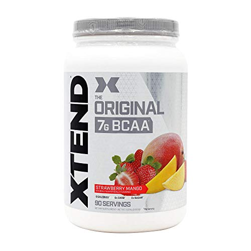 XTEND Original BCAA Powder Strawberry Mango | Sugar Free Post Workout Muscle Recovery Drink with Amino Acids | 7g BCAAs for Men & Women| 90 Servings