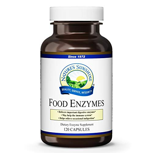 Nature's Sunshine Food Enzymes 120 Capsules