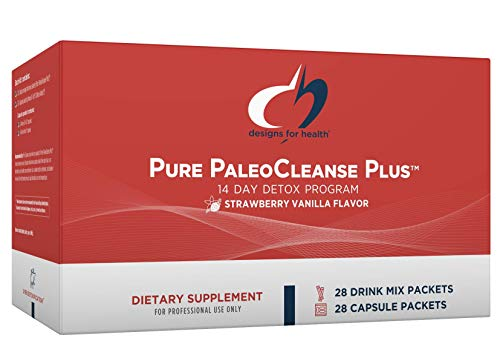 Designs for Health Pure PaleoCleanse Plus 14 Day Detox Program - Beef Protein Powder, Amino-D-Tox + Detox Antiox Packets (28 Powder + 28 Capsule Packs)