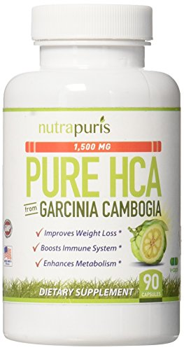 Pure Garcinia Cambogia Extract Diet Pills - Targets Belly Fat Burn for Women and Men - 90 Rapid Dissolving Capsules - Most Potent 100% HCA Garcinia for Healthy, Fast Weight Loss Happiness Guaranteed!