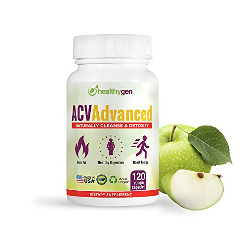 HEALTHYGEN Advanced Apple Cider Vinegar Pills - Non-GMO, 120 Organic Capsules - Immune Booster and Detox Cleanse Supplements