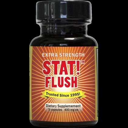 5 Pack - Stat! Flush 5 Capsules 400 Mg Each with Free Im Baked Bro and Doob Tubes Sticker