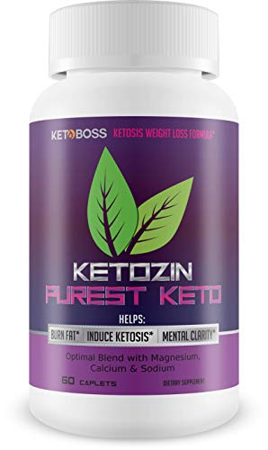 Ketozin Weight Loss - Purest Keto Pills - Help Burn Fat and Lose Weight - Powerful Keto Weight Loss - Blend of Specially sourced BHB Salts to Support Faster ketosis and Fat Burn!