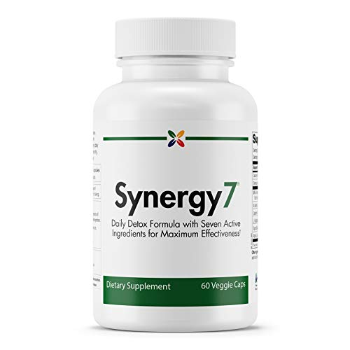 Stop Aging Now - Synergy7 Daily Detox with Glutathione - Daily Detox Formula with Seven Active Ingredients for Maximum Effectiveness - 60 Veggie Caps