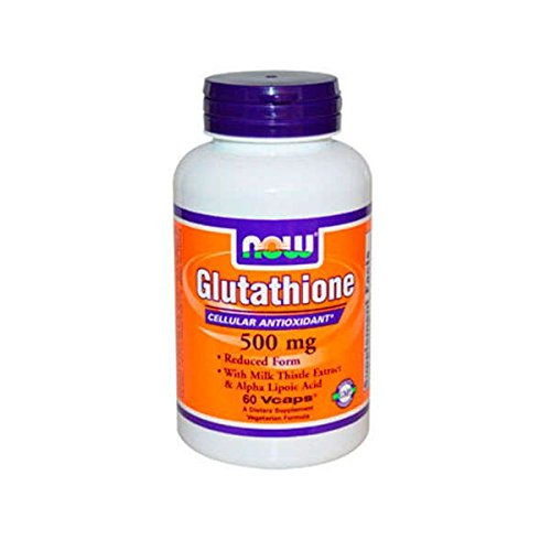 NOW Supplements, Glutathione 500 mg, With Milk Thistle Extract & Alpha Lipoic Acid, Free Radical Neutralizer*, 60 Veg Capsules