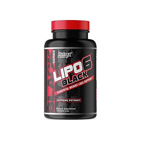 Nutrex Research Lipo-6 Black Extreme Potency | Powerful Weight Loss, Appetite Suppressant, Energy & Focus Diet Pills, 120 Count