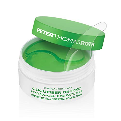Cucumber De-Tox Hydra-Gel Eye Patches, Soothing Under-Eye Patches for Puffiness, Dark Circles, Fine Lines and Wrinkles