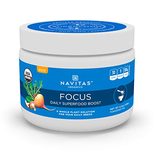 Navitas Organics Daily Superfood Boost, Focus, 4.2 Ounce, Organic, Non-GMO, Gluten-Free