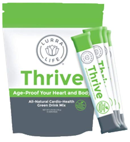 Lurra Life Thrive Green Drink | Age-Proof Your Heart and Body | All-Natural Cardio Health Supplement (1 Package (15 Servings))