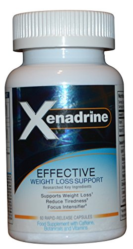 Xenadrine Effective Weight Loss Supplement for Men & Women with L-Theanine, Caffeine, L-Carnitine, 60 Capsules - Belly & Body Fat Burner