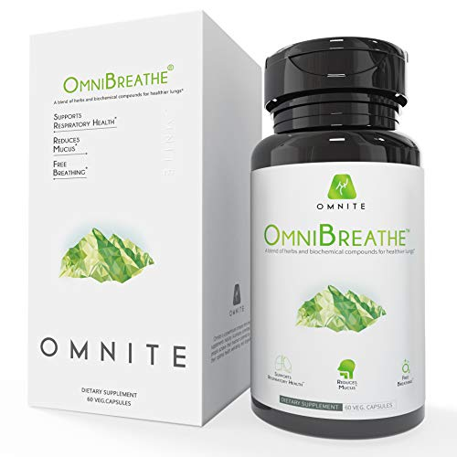 OmniBreathe Lung Cleanse & Detox Supplement by Omnite - Cleanse Lungs, Clear Mucus & Support Overall Respiratory Health - Supplement for Smokers & Asthma Relief