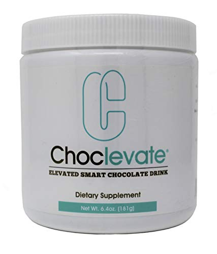 Elevacity Choclevate 6.4 oz (181g) 6 grams per serving, 30 servings/Container 10 calories and 85mg Caffeine/Serving New Improved Formula