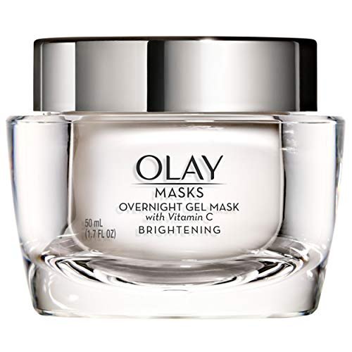 Face Mask Gel by Olay Masks, Overnight Facial Moisturizer with Vitamin C and Hyaluronic Acid for Brighter Skin, 1.7 Fl Ounce