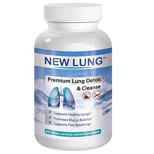 Lung Detox Premium - Lung Cleanse Top Rated Herbal Lung Cleanse & Detox. Supports Healthy Lungs & Sinus from Harmful Effects of Smoggy Cities & Years of Smoking & Vaping. Natural. Non-GMO.