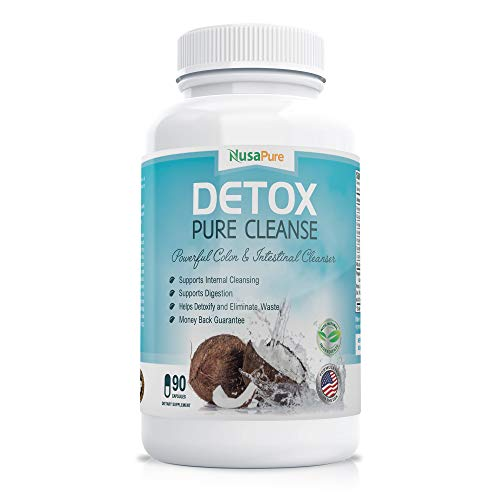 Detox Pure Cleanse: Colon Cleanse for Weight Loss: for Digestive System and Colon Health: 90 Capsules