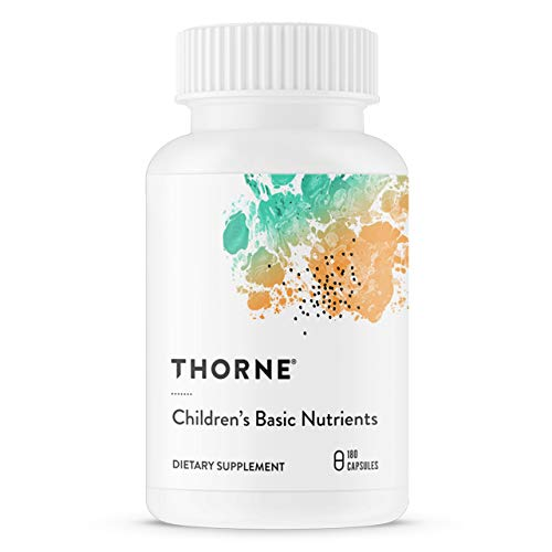 Thorne Research - Children's Basic Nutrients - Easy-Dosing Multi-Vitamin-Mineral Supplement for Children - 4 and Older - 180 Capsules