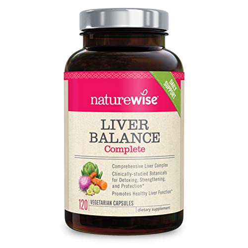 NatureWise Liver Cleanse Premium Detox (2 Month Supply) Advanced Triple Formula Liver Detoxifier, Regenerator, and Protector - Natural Herbal Supplements, Milk Thistle, Turmeric Curcumin [120 Count]