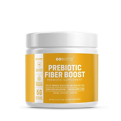 GoBiotix Prebiotic Fiber Boost Powder | Support a Healthy Gut & Digestive Regularity, Feed Good Bacteria, Ease Gas | Complement For Every Probiotics Supplement | Gluten & Sugar-Free, Keto, Vegan -150g