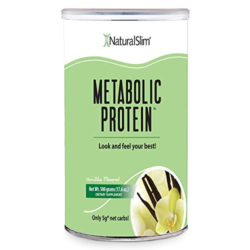 """NaturalSlim Meal Replacement Whey Protein Shakes, Natural Aid for a """"Slow Metabolism"""" with Ingredients to Suppress Appetite and Start of Your Day Burning Fat- Great Taste and Very Filling (Vanilla)"""