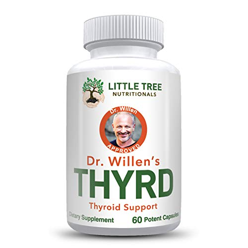 Dr. Willen's Thyroid Support Supplement – 60 Capsules to Balance Hormones to Increase Energy Level, Metabolism, Weight Loss and Focus – Approved Non GMO
