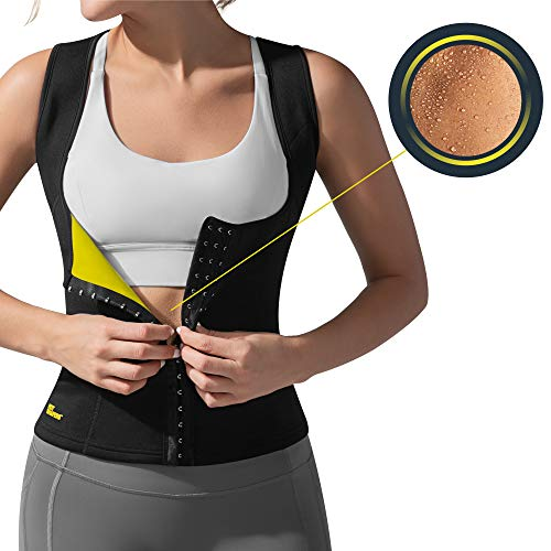 HOT SHAPERS Cami Hot Waist Cincher – Women Slimming Sweat Vest & Sauna Body Shaper (Small, Black)