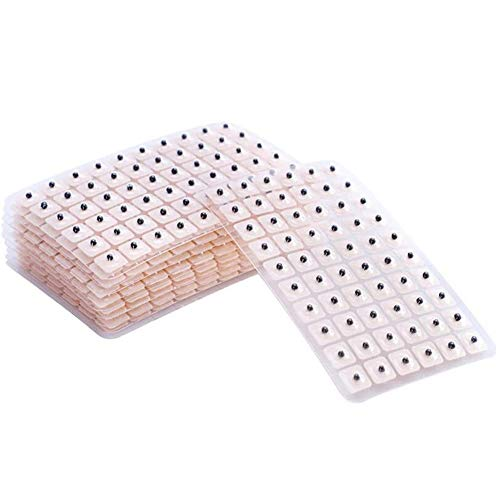 RZJZGZ 600 Counts Acupuncture Vaccaria Needle Ear Seeds Massage Paste Ear Stickers Auricular Ear Press Seed