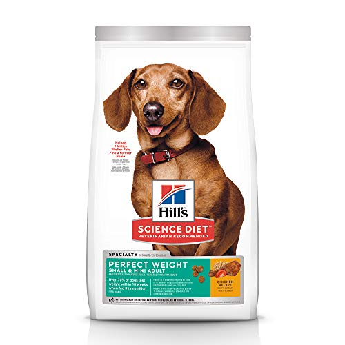 Hill's Science Diet Dry Dog Food, Adult, Perfect Weight for Healthy Weight & Weight Management, Small & Mini Breeds, Chicken Recipe, 4 lb Bag