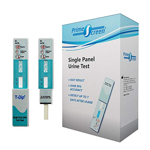Prime Screen Marijuana THC Single Panel Test Kit 10 Pack- Self-Check Individually Wrapped Urine Screen Tests with Highly Sensitive 50 ng/ml Cutoff Level - WDTH-114
