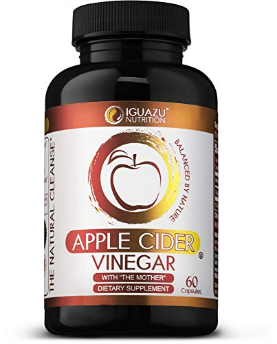 100% Organic Apple Cider Vinegar Capsules with The Mother - Natural Cleanser Supports Weight Loss, Healthy Blood Sugar & Cholesterol Levels, Boosts Energy & Metabolism, Raw Non-GMO, 700mg 60 Pills