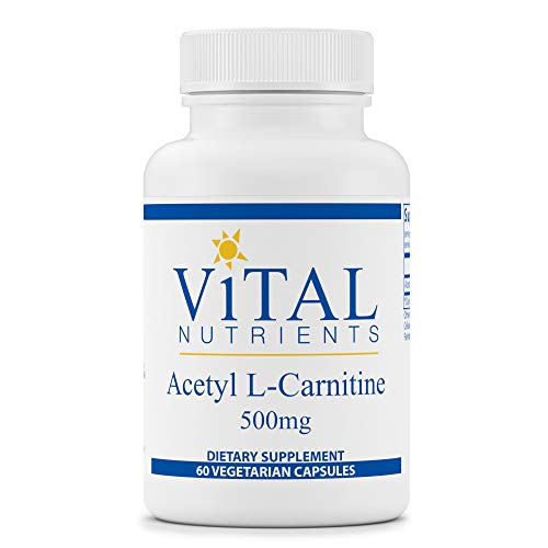Vital Nutrients - Acetyl L-Carnitine - Supports Normal Brain Function - 60 Capsules per Bottle - 500 mg
