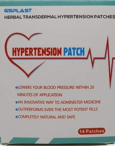 Hypertension Patch, Lowering Blood Pressure 100% Natural (1 Box)14 Patches