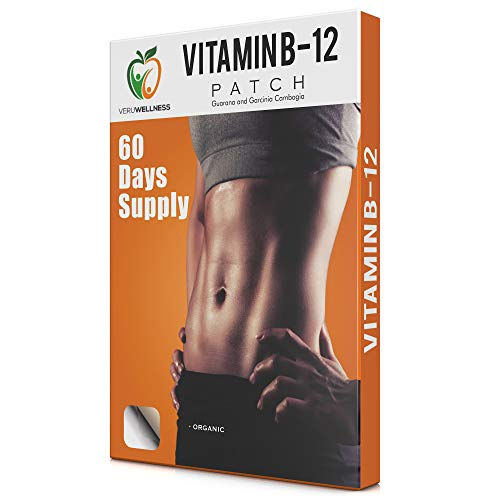 Veru Wellness Vitamin B12 Patch for Energy Boost – 60 Day Supply Vitamin B12 Patches – Transdermal B12 Self Adhesive B12 Patches – B12 Patches with 10 Hours Use Per Patch