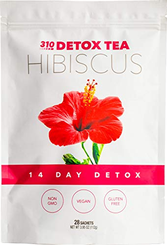 Hibiscus Tea, 28 Servings | 310 Tea Fights Bloating and Appetite Suppressant, Increases Metabolism | Organic Green Tea with Yerba Mate, Guarana, Ginger, and Many More Cleansing Ingredients