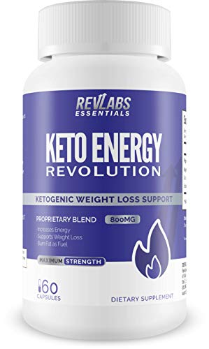 Keto Energy Revolution - Advanced Ketogenic Weight Loss Supplement | Perfect Keto Pills for Women and Men Looking to Slim Fast and Tone with The Complete Keto Lifestyle | BHB 800 60 Capsules