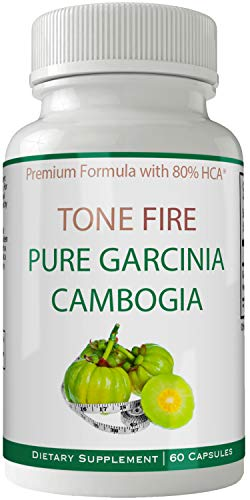 Tone Fire Garcinia Cambogia Weight Loss Extract Garcinia with 80% HCA 1500mg Extract