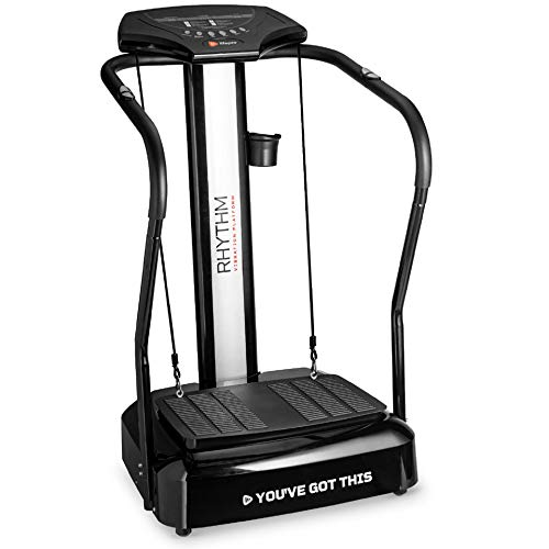 LifePro Rhythm Viberation Plate Machine - Professional Whole Body Vibration Platform for Home Fitness - Viberation Excersize Machine for Awesome Cardio Workout & Weight Loss