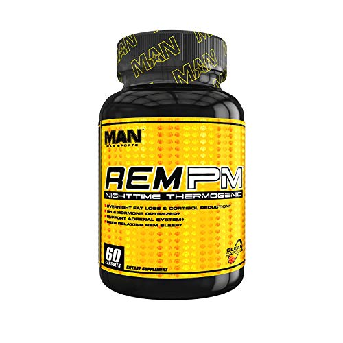Man Sports REM PM. Nighttime Sleep Aid and REM Supplement. Weight Loss Night Time Fat Burner (60 Capsules)
