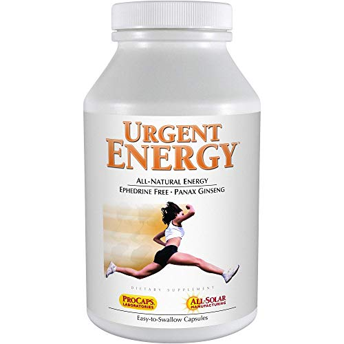 Andrew Lessman Urgent Energy 60 Capsules – Provides a Safe, Healthy Means of Enhancing Energy Levels & Feelings of Well-Being, with Green Tea, Guarana, Ginseng, Royal Jelly, Ashwagandha, B-Complex