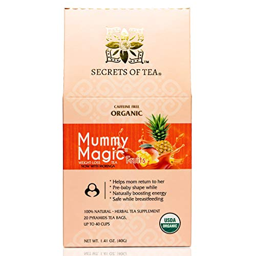 Mummy Magic Weight Loss Tea - Fruit Tea with 40 Servings - Energy Tea Naturally Increase Digestion.Postpartum Tea for Metabolism & Digestion.