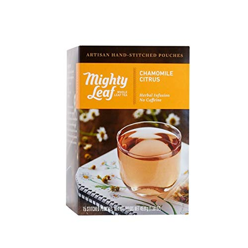 Mighty Leaf Tea Chamomile Citrus, 15-Count Whole Leaf Pouches (Pack of 3)