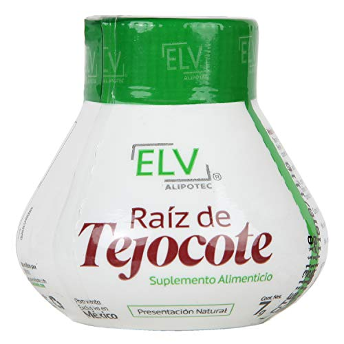 Original ELV Alipotec Tejocote Root Treatment - 1 Bottle (3 Month Treatment) - Most Popular, All-Natural Weight Loss Supplement in Mexico Now with a Free Measuring Tape