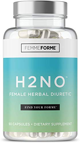 Femme Forme H2No Water Pills for Weight Loss: Women's Water Weight Loss Pills with Dandelion Leaf Extract, Parsley Seed Extract, and Juniper Berry to Drop Water Weight and Bloating, 90 Count