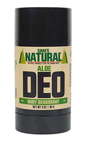 Sam's Natural Deodorant - Aloe - Aluminum Free - No phthalates, parabens, sulfates, or dyes - Made in New Hampshire - For Men, Women, Unisex - Vegan, Cruelty Free - 3 oz