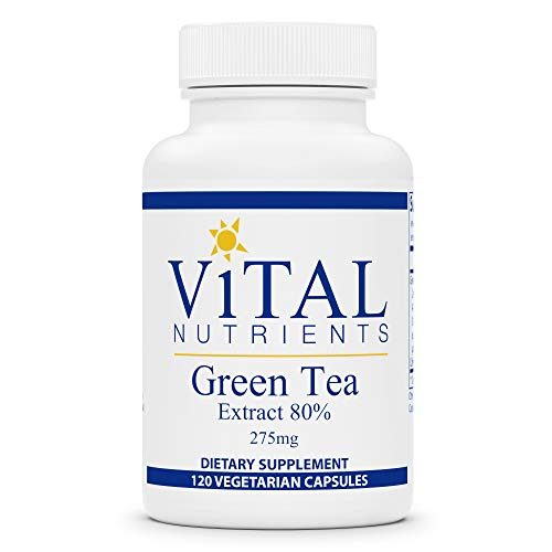 Vital Nutrients - Green Tea Extract - Potent Antioxidant and Immune Enhancer - 275 mg - 120 Vegetarian Capsules per Bottle