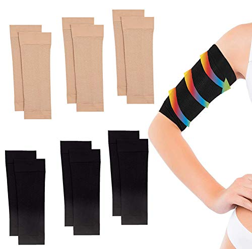 6 Pair Arm Compression Sleeve Women Weight Loss Upper Arm Shapers for Women