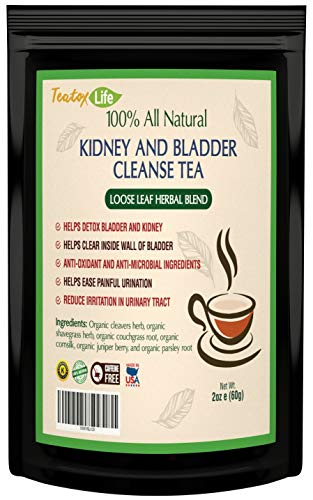 Kidney Cleanse Detox Tea| Kidney Support Supplement with Parsley, Juniper Berries, Cleavers herb for Urinary Tract and Bladder Health - Organic Natural Herbal Supplement Flush Formula |USDA | Made in