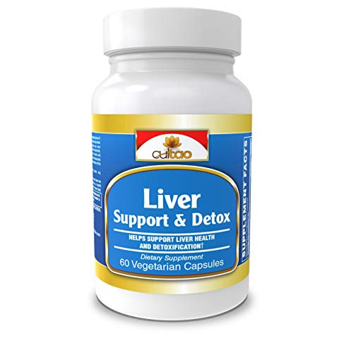 Liver Cleanse Detox & Support Supplement - Ultimate Detoxifier & Energy Regenerator - Comprehensive Formula 16 Nutrients And Premium Herbs: Milk Thistle, NAC, Turmeric, Artichoke, Dandelion - 60 Vcaps